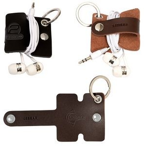 Leeman™ Genuine Leather Cord Organizer w/Snap